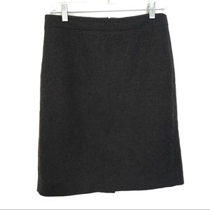 [J.CREW]70% Wool Pencil Skirt w Zipped Back Size 4